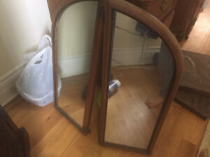 antique makeup dresser with mirrors