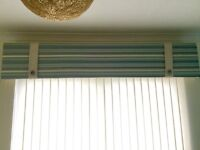 Roman blind and pelmet