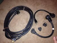 Trailer power cable and adapters