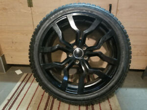 Black 19 Inch Rims x 4 (Including Winter Tires)
