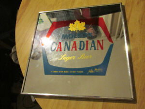 MOLSON Canadian Beer Lager Mirror Man Cave Bar Vintage Canada