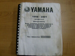 YAMAHA 650 VSTAR OEM SHOP MANUAL