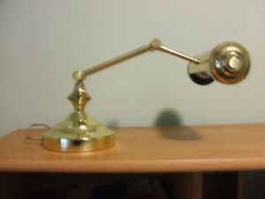SOLID BRASS ADJUSTABLE DESK LAMP