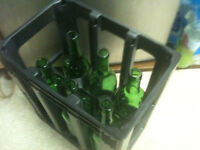 Wine Crate - Plastic Wine Crate with 6 Empty Bottles