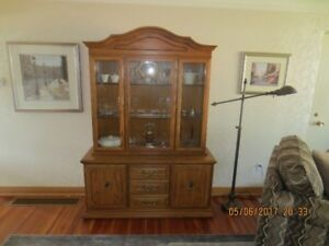 Dining Room Table Chairs & Hutch