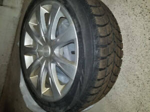 4 winter tires with alloy wheels. 225 50 r18 came off Infinity.