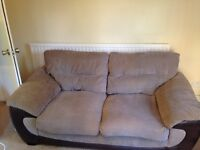PRICE DROP IF SOLD TODAY - Sofa bed, 3 seater and Pouffe
