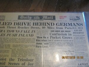world war 2 frontpages of news papers /military/news