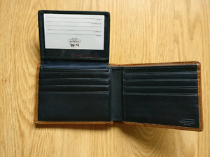 Light Brown Leather Coach Wallet