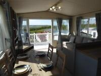 Holiday Home caravan with sea views and decking on isle of wight