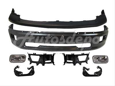 For 2009-2012 DODGE RAM 1500 FRONT BUMPER GREY UPPER FOG LIGHT BRACKET KIT 7P