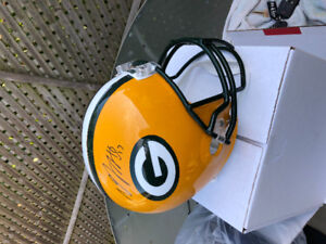 Davant Adams(packers) and Malcolm Mitchell (patriot) helmets COA