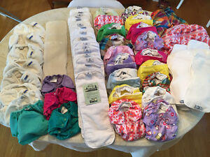 Hardly used collection of top rated cloth diapers Kitchener / Waterloo Kitchener Area image 1