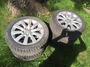 "Rims with winter tires for Audi A4 (17"") for sale"