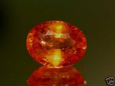 3.03CT RARE STUNNING INTENSE  RED ORANGE MOZAMBIQUE SPESSARTITE MANDARIN GARNET Intense Mandarin Orange