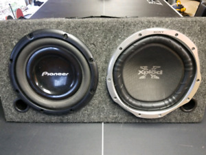 """12"""" sub woofers and everything needed for installation"""