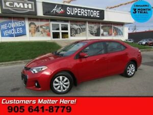 2015 Toyota Corolla S  BLUETOOTH LEATHER POWER GROUP REAR CAMERA