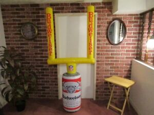 vintage new Budweiser inflatable goalpost advertising in Trail