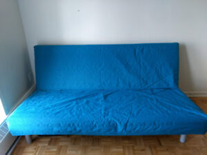 Ikea Nyhamn Futon with Teal Cover
