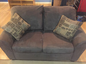 Suede Love Seat - MUST GO