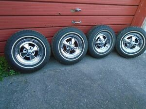 4 - Rare Vintage 4 spoke 13 x 5.5 Cragar S/S with tires!