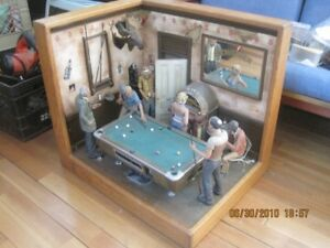 Pool Table room Diarama - amazing gift
