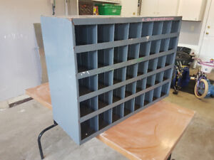 Parts Cabinet. 40 openinings. Steel.