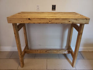 MOVING SALE - hand made wooden bar table
