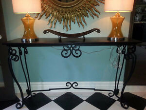 Table Console / Sofa Table - Wrought Iron West Island Greater Montréal image 1