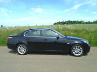 BMW 5 SERIES 3.0 525i SE AUTOMATIC 4DR BLACK - ONE FORMER KEEPER - F.S.H