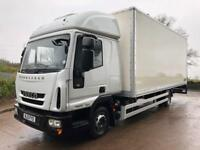 2013 13 Iveco Eurocargo 75e16 EEV high roof sleeper cab 20ft box tail-lift