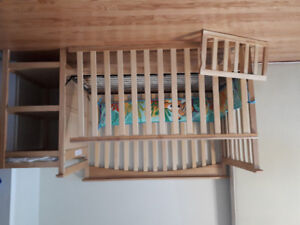 4 in 1 crib with changer