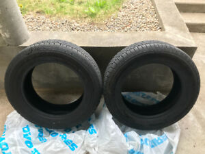 """TWO 17"""" summer tires 2 weeks old."""