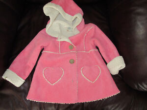 Adorable PInk Spring coat with hood by Oshkosh - Size 2 years