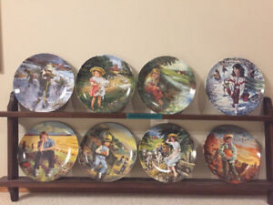 MANY   COLLECTIBLE PLATES BY STEWARD SHERWOOD FOR SALE