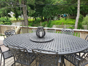 Solid Patio Table Set