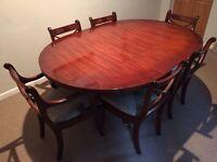 Wade mahogany table and 8 chairs