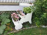 HANDMADE THREE TIER WOODEN PLANT CART