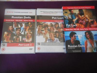 2 Cult Movies Pot Luck & Russian Dolls-New Sealed DVD-Region