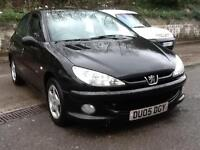 Peugeot 206 1.4 2005 SPORT,NEW TIMING BELT,BLACK 5 DOOR