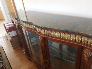 Marble topped Display Hutch
