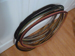 Five GOOD used tubular tires for sale