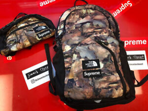 Supreme north face back pack and waist bag