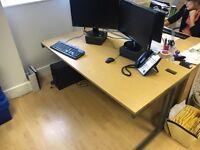 *** OAK coloured desk ... OFFICE SET ALSO AVAILABLE***