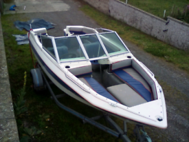 17ft speed boat and trailer