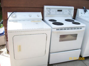 washer,dryer and stove
