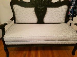 Newly Re-Upholstered Victorian Settee / Loveseat /Lounger