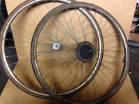 Vintage road bicycle wheels 700c bike