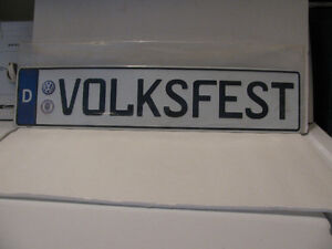 VW Volksfest Euro Plate New In Sealed Pouch