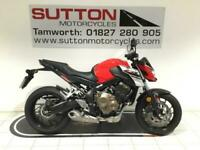 Honda CB650F 17 plate only 6500 miles + heated grips